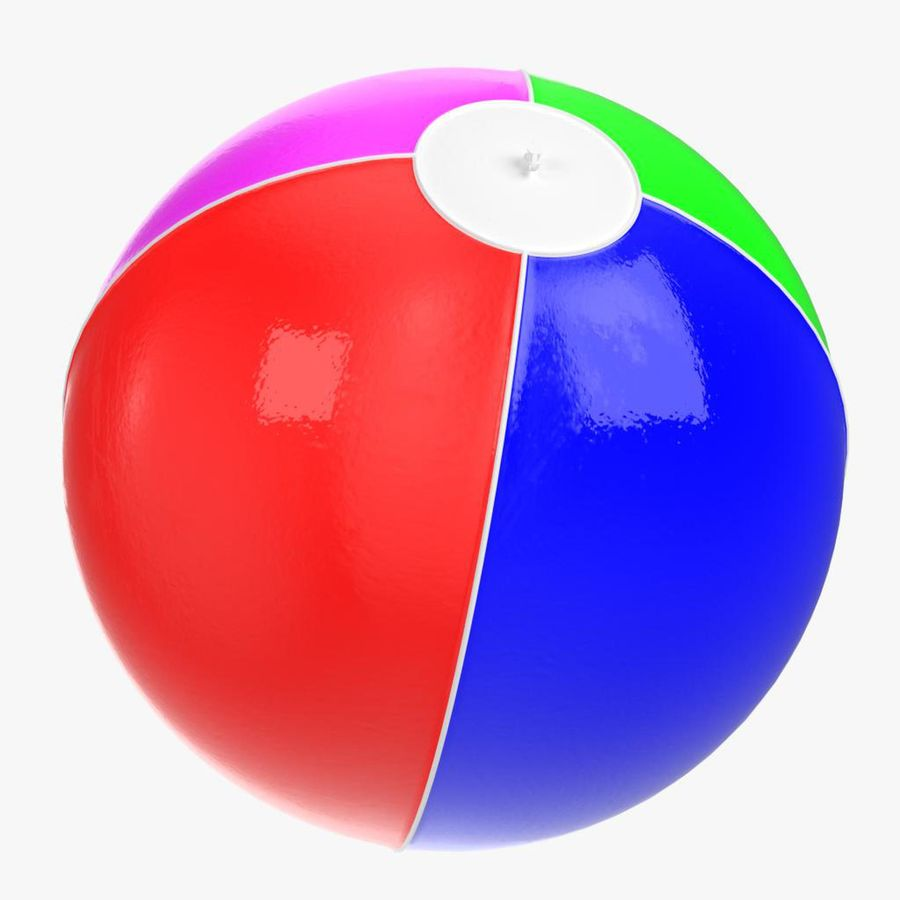 Inflatable beach ball royalty-free 3d model - Preview no. 12