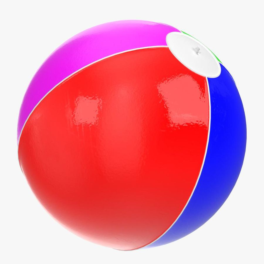 Inflatable beach ball royalty-free 3d model - Preview no. 13