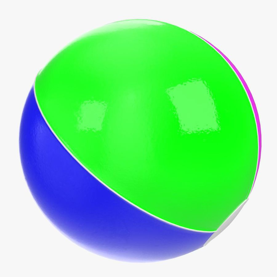 Inflatable beach ball royalty-free 3d model - Preview no. 8