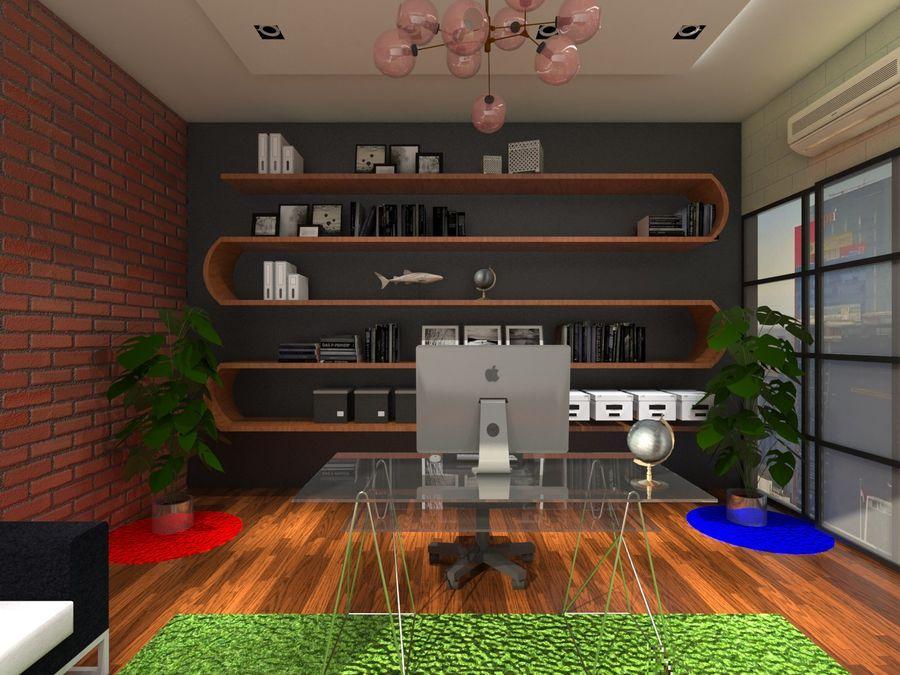 Diseño de oficina royalty-free modelo 3d - Preview no. 5