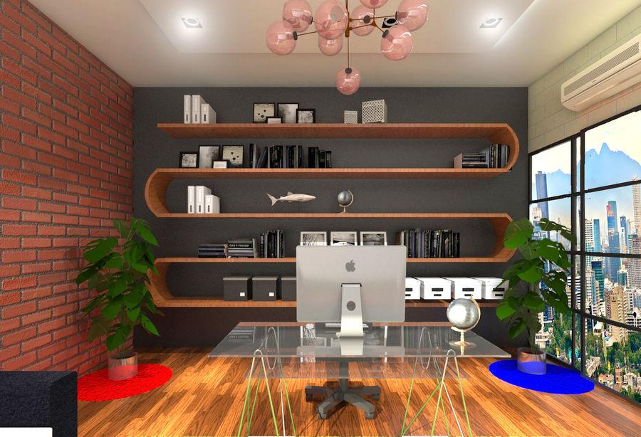 Diseño de oficina royalty-free modelo 3d - Preview no. 4