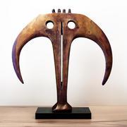 Abstrakt bronsskulptur Circa 3d model