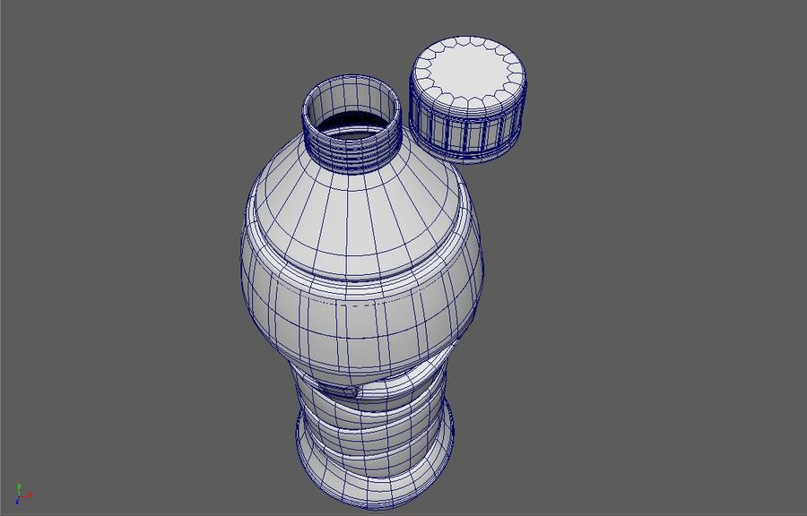 Waterfles royalty-free 3d model - Preview no. 3