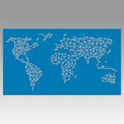 Карта мира 3d model