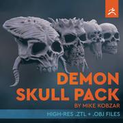 Demon SKull Pack 3d model