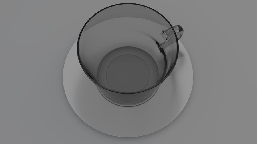 cappuccino cup royalty-free 3d model - Preview no. 5