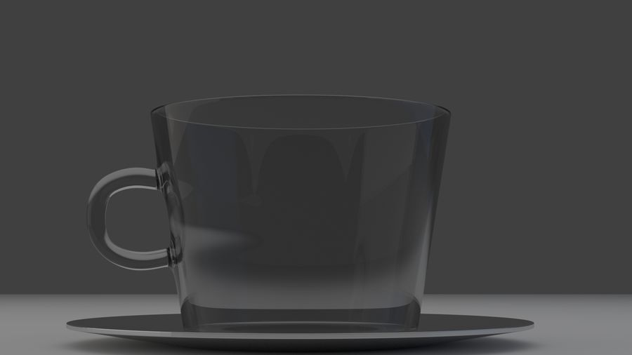 cappuccino cup royalty-free 3d model - Preview no. 6