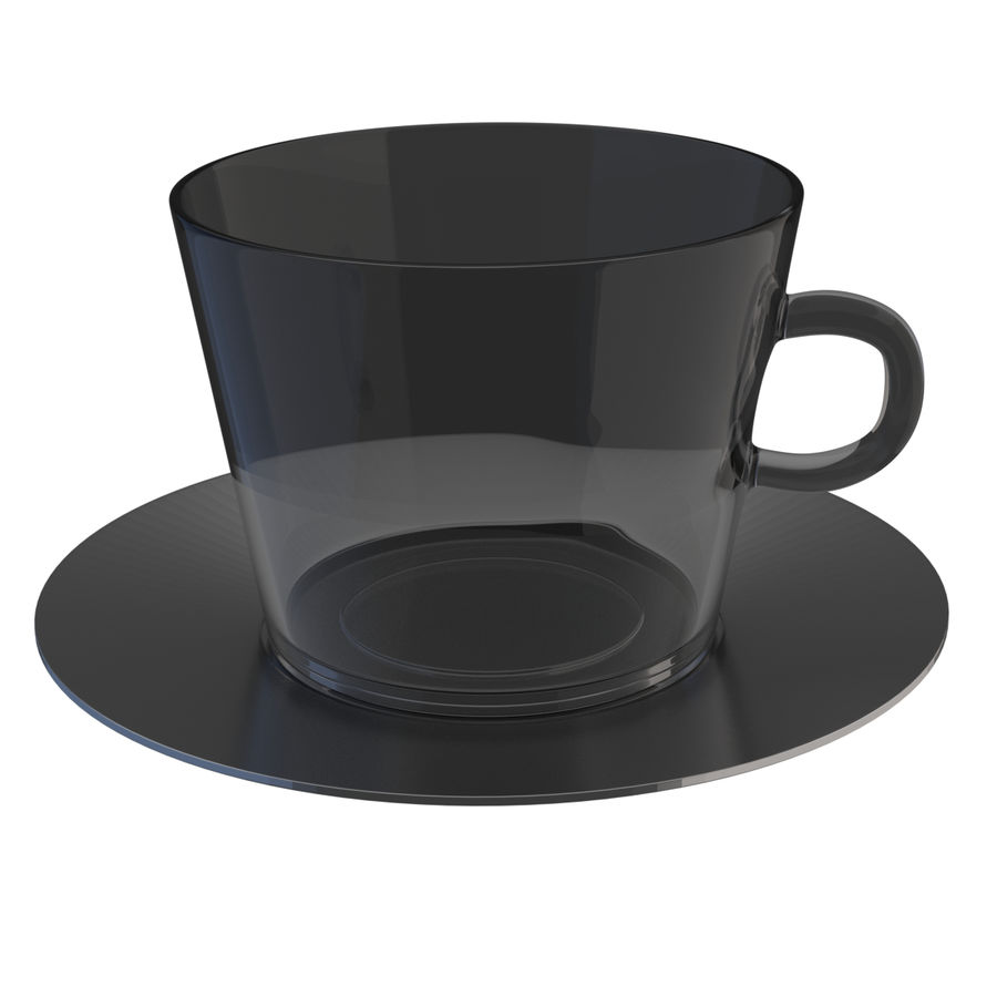 cappuccino cup royalty-free 3d model - Preview no. 1
