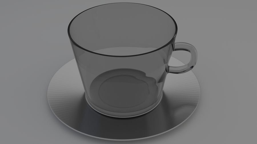 cappuccino cup royalty-free 3d model - Preview no. 2