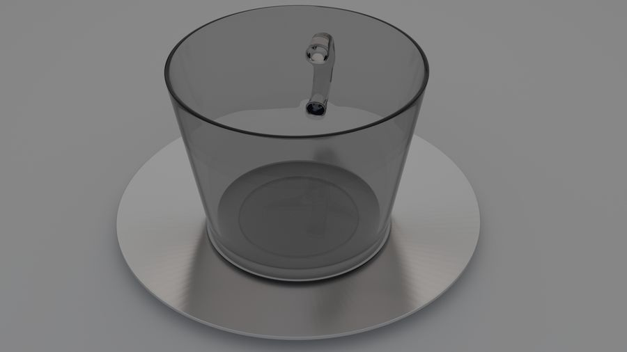 cappuccino cup royalty-free 3d model - Preview no. 4