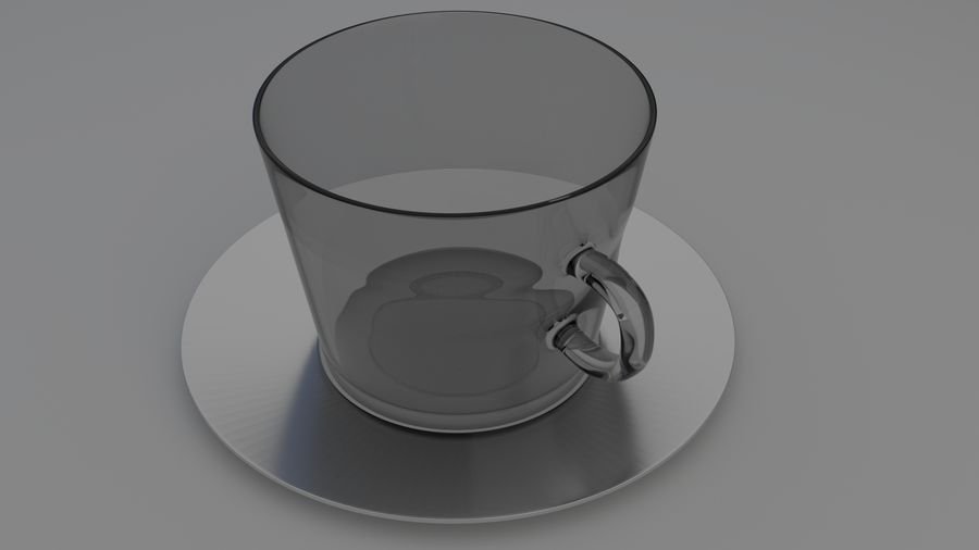 cappuccino cup royalty-free 3d model - Preview no. 3
