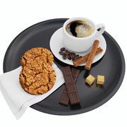 Kaffe och kakor 3d model