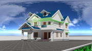 Model Kerala Style House 3d model