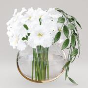 Белые ирисы 3d model