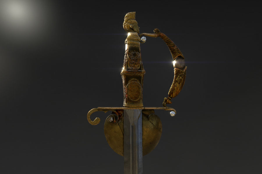 Bolivar Sword Espada De Bolivar 3d Model 15 Fbx Free3d