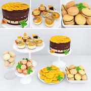 Orange dessert 3d model