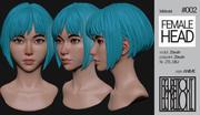 Female Anime Head #2 3d model