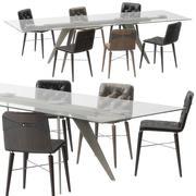 Kate sandalye Ramos masa Bontempi tarafından 3d model