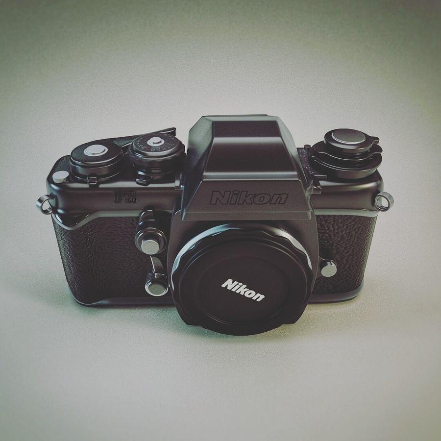 Nikon F3 SLR-fotokamera royalty-free 3d model - Preview no. 4