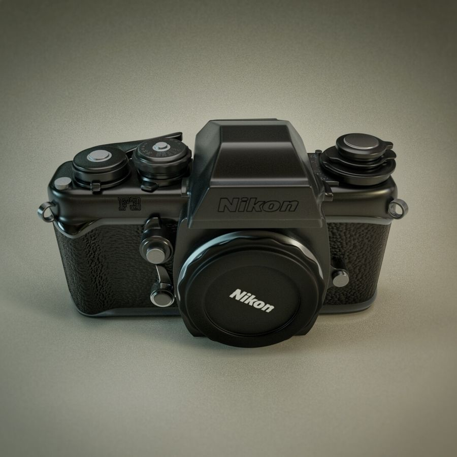 Nikon F3 SLR-fotokamera royalty-free 3d model - Preview no. 3