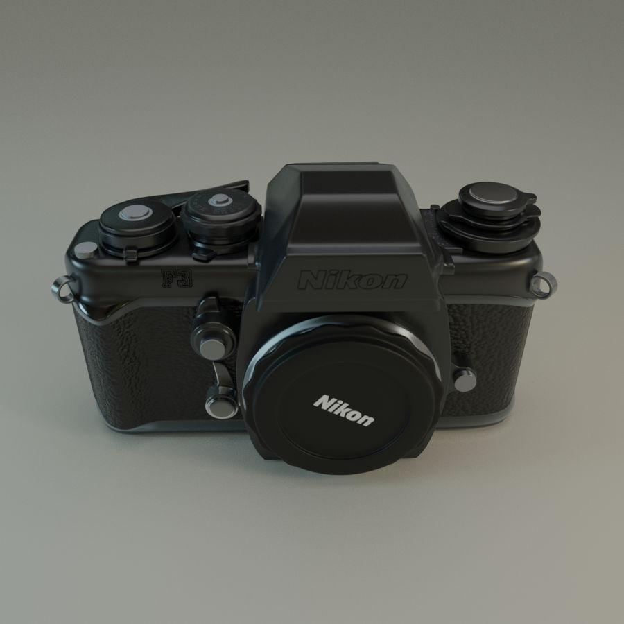 Nikon F3 SLR-fotokamera royalty-free 3d model - Preview no. 1