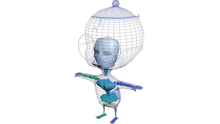 Eggbert Egghead Junior royalty-free 3d model - Preview no. 10