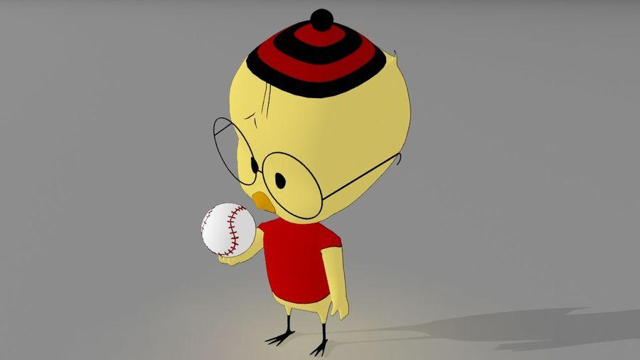 Eggbert Egghead Junior royalty-free 3d model - Preview no. 3
