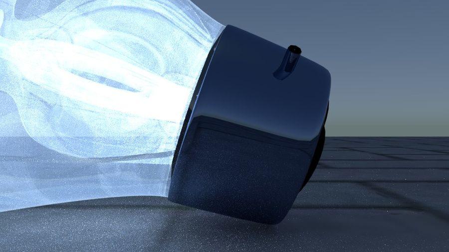 Bombilla de luz en el piso royalty-free modelo 3d - Preview no. 6