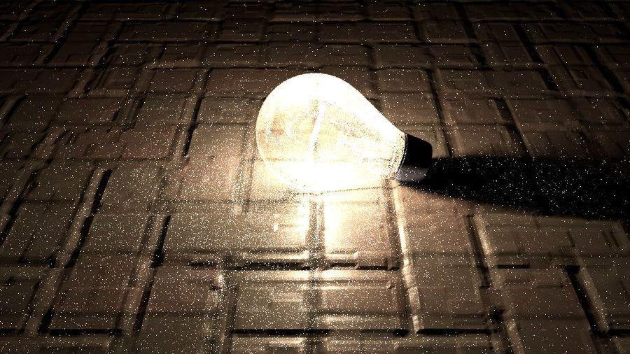 Bombilla de luz en el piso royalty-free modelo 3d - Preview no. 1