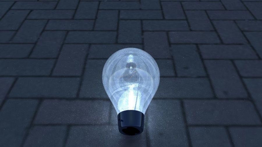 Bombilla de luz en el piso royalty-free modelo 3d - Preview no. 5