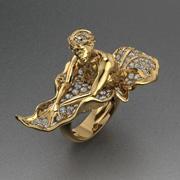 Biżuteria Lady Ring 3d model