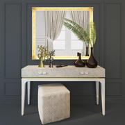 konsol / toalettbord, spegel. Aleal Prestige 3d model