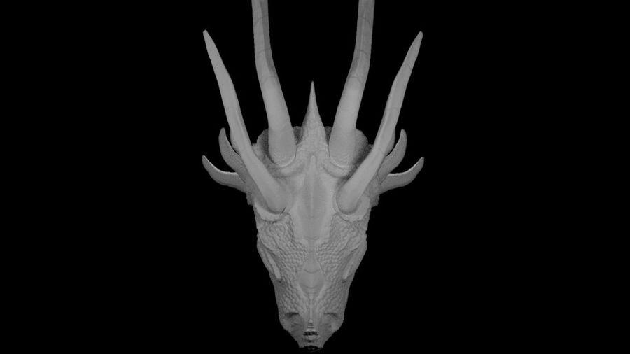 Głowa smoka royalty-free 3d model - Preview no. 11