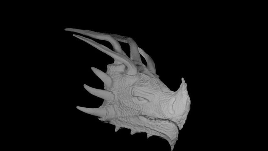 Głowa smoka royalty-free 3d model - Preview no. 9