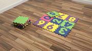 numery podłogi z pianki 3d model