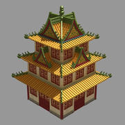 Arquitectura china antigua - Torre 32 modelo 3d