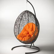Swing cocon hangende rotan stoel 3d model