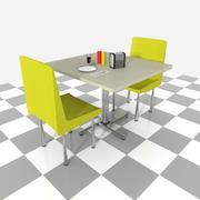 Dîner en kiosque (dîner) 3d model