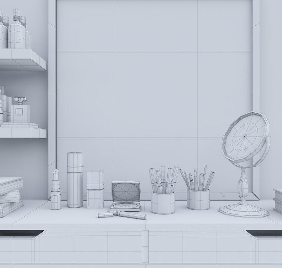 Dekorationssats för toalettbord royalty-free 3d model - Preview no. 10