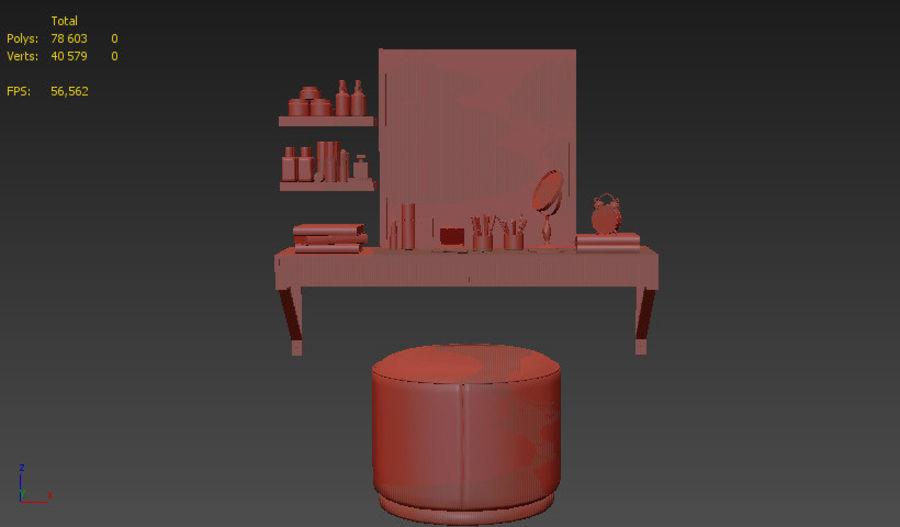 Dekorationssats för toalettbord royalty-free 3d model - Preview no. 13