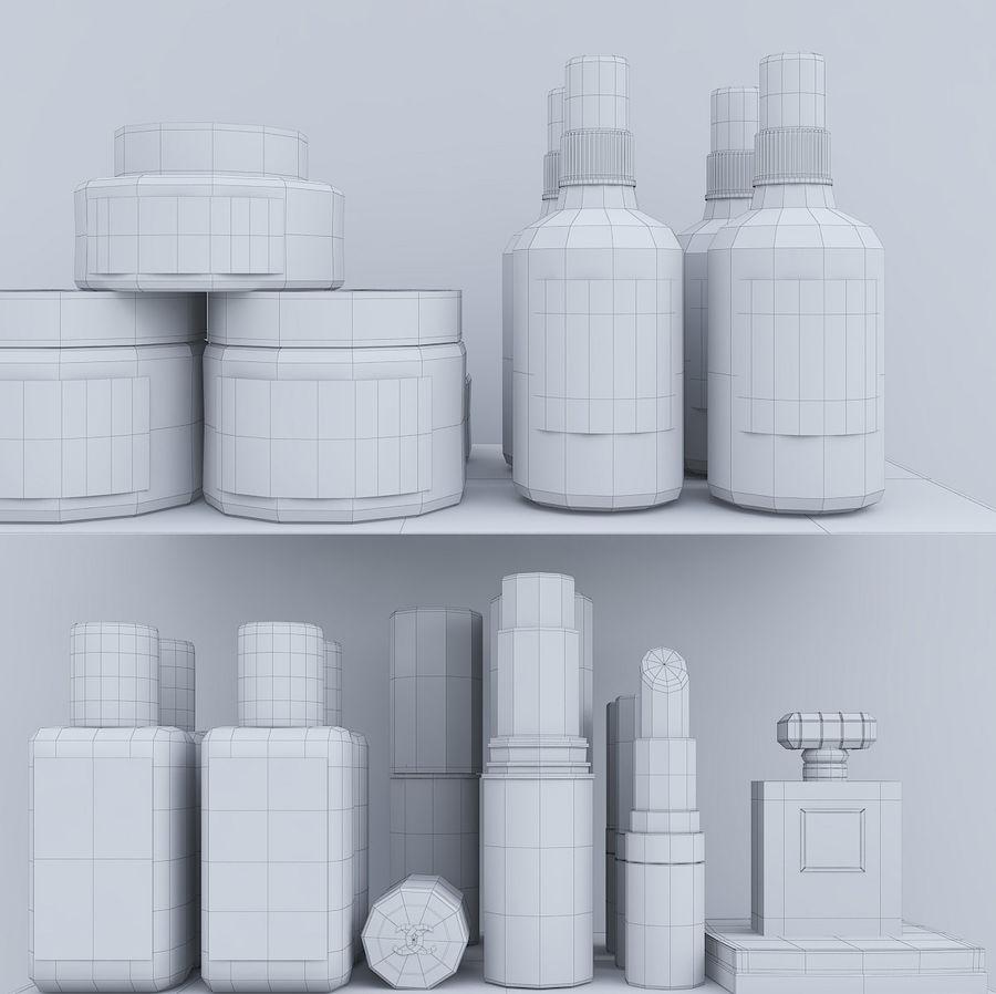 Dekorationssats för toalettbord royalty-free 3d model - Preview no. 11