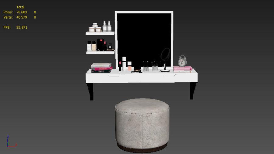 Dekorationssats för toalettbord royalty-free 3d model - Preview no. 12