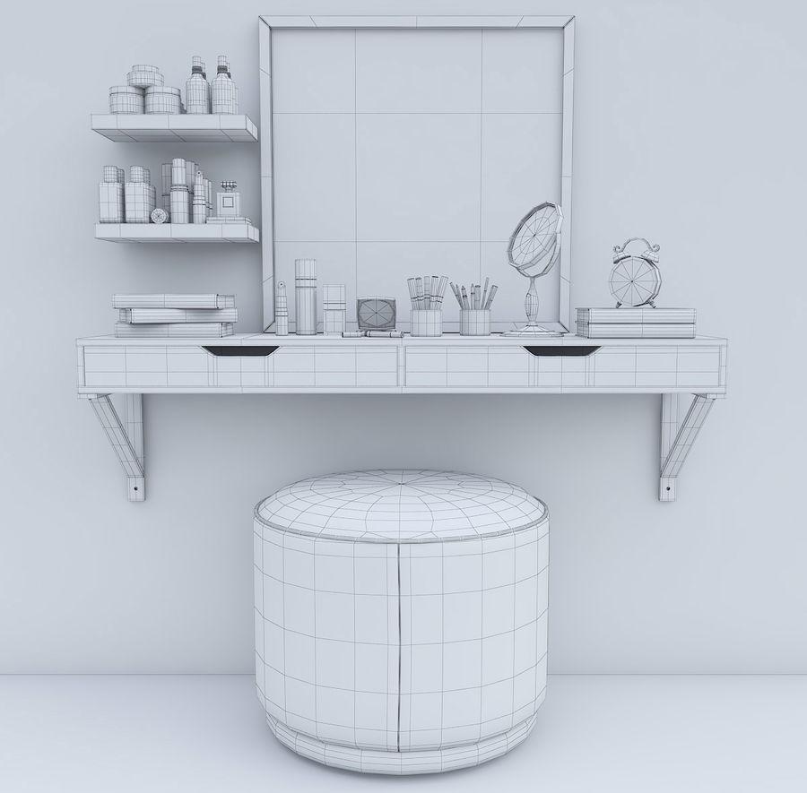 Dekorationssats för toalettbord royalty-free 3d model - Preview no. 9