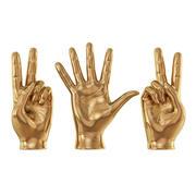 Skulpturhänder tecken 3d model
