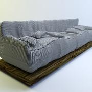 Oturma odası için kanepe 3d model
