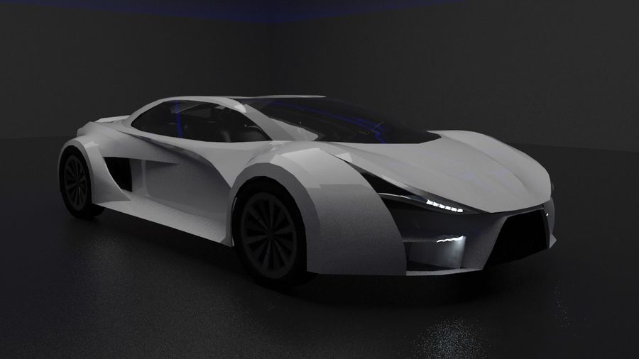 conceito automotivo royalty-free 3d model - Preview no. 1