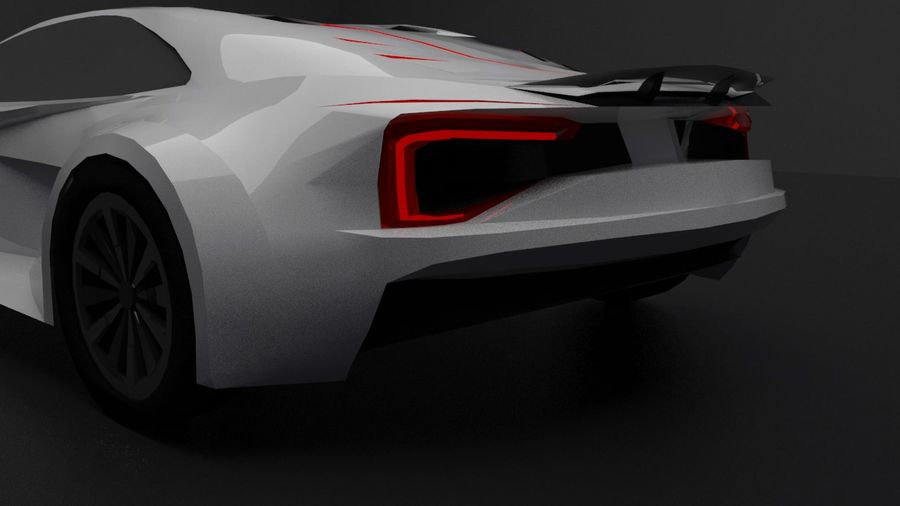 conceito automotivo royalty-free 3d model - Preview no. 4