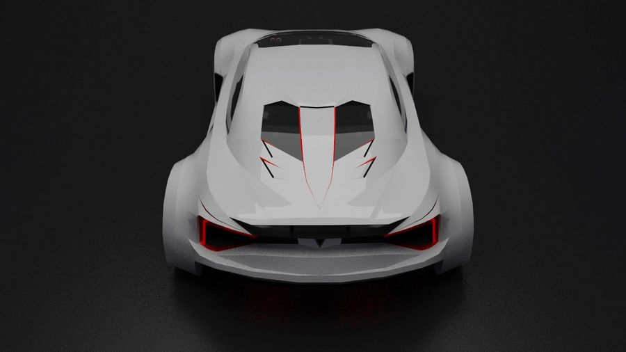 conceito automotivo royalty-free 3d model - Preview no. 5
