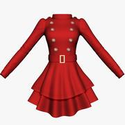 Long Sleeve Womens Dress 3d model