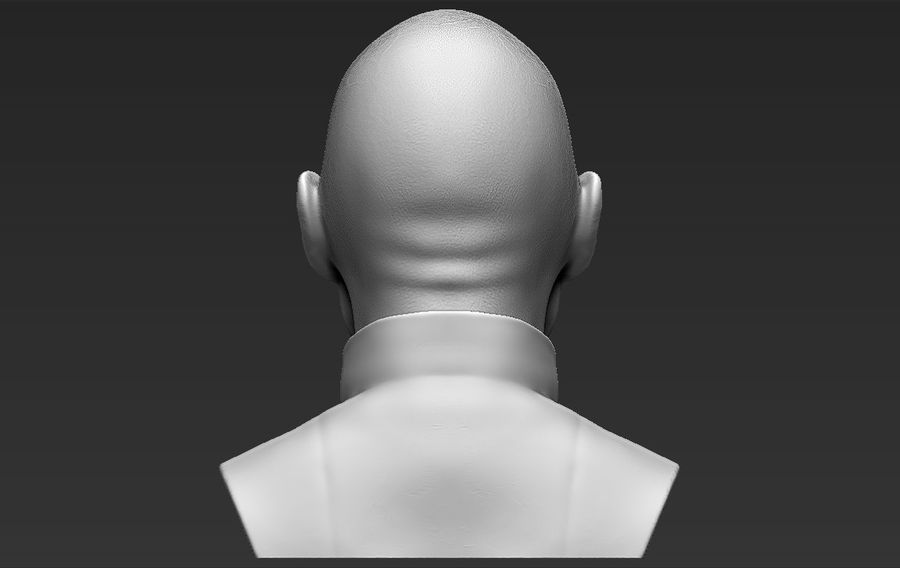 Lord Voldemort bust 3D printing ready stl obj formats royalty-free 3d model - Preview no. 8